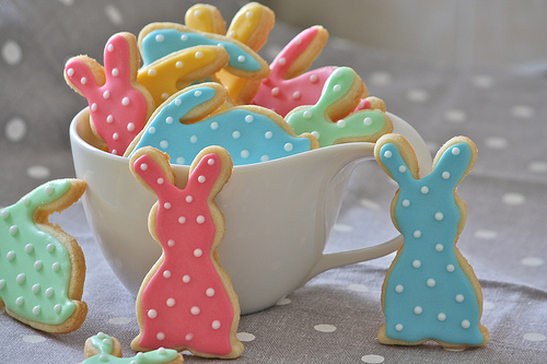 Spotted Bunny Cookies