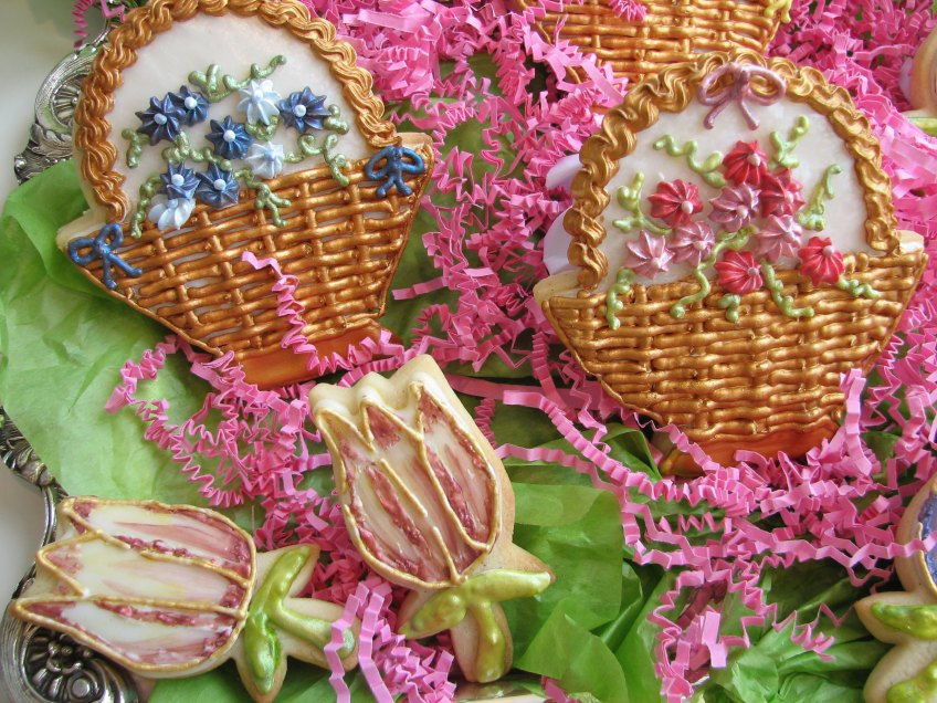 Spring Flower Cookies ~ Fancy Flours