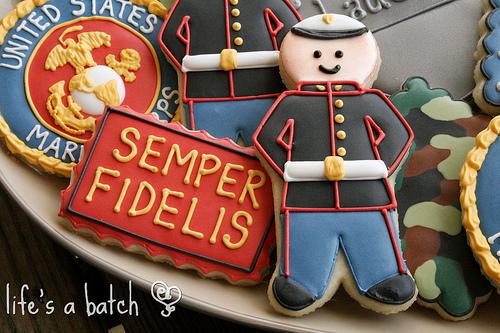 U.S. Marines Cookies ~ Life's a batch