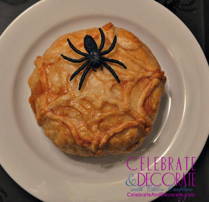 Spiderweb Baked Brie