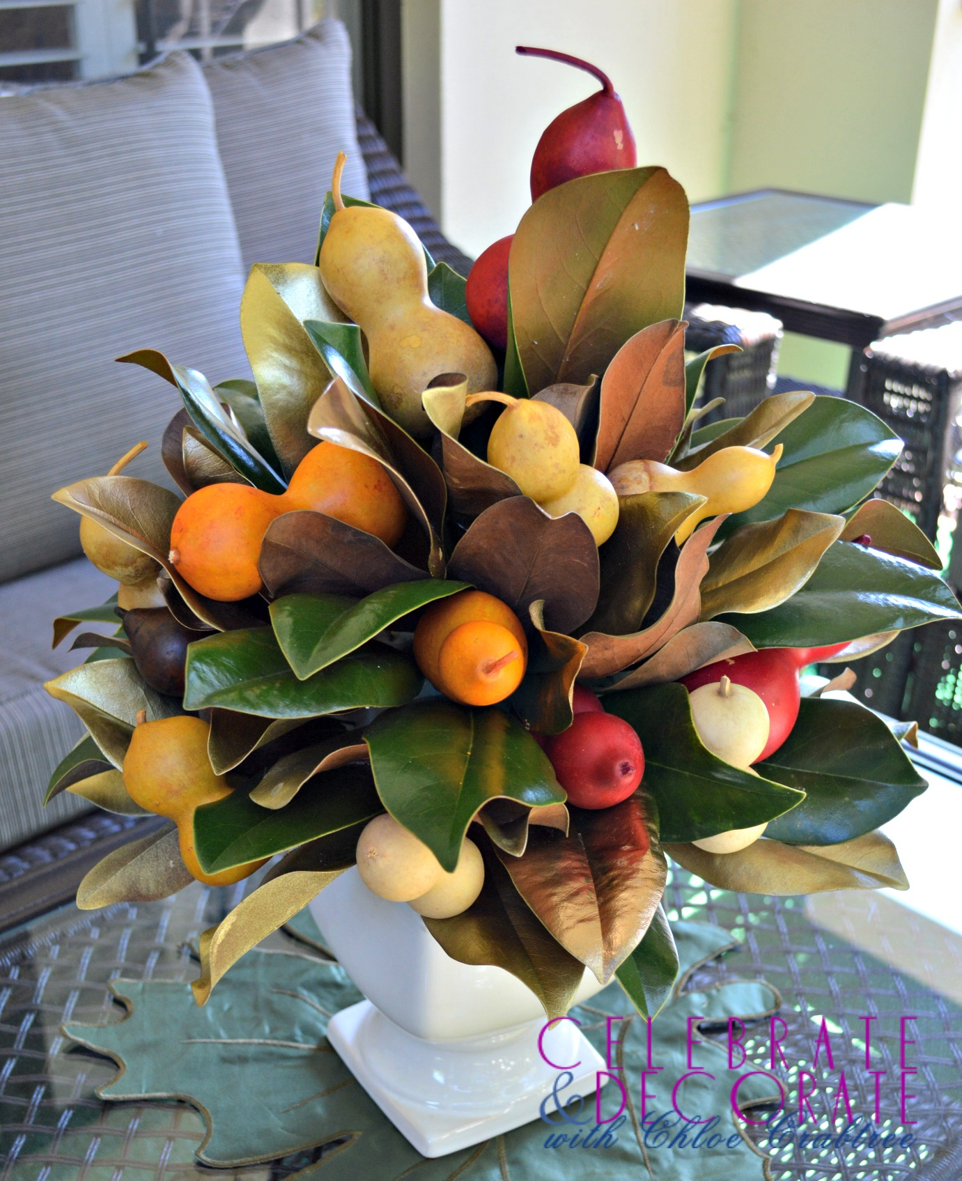 Magnolia Leaf Centerpiece8