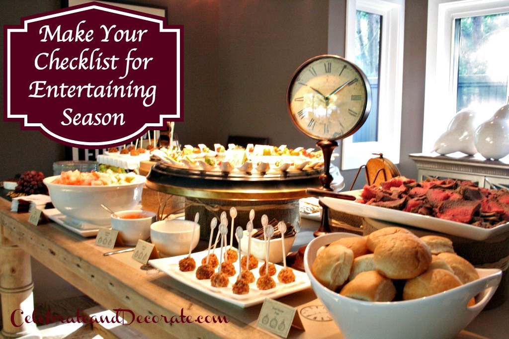 Make Your Checklist for Entertaining