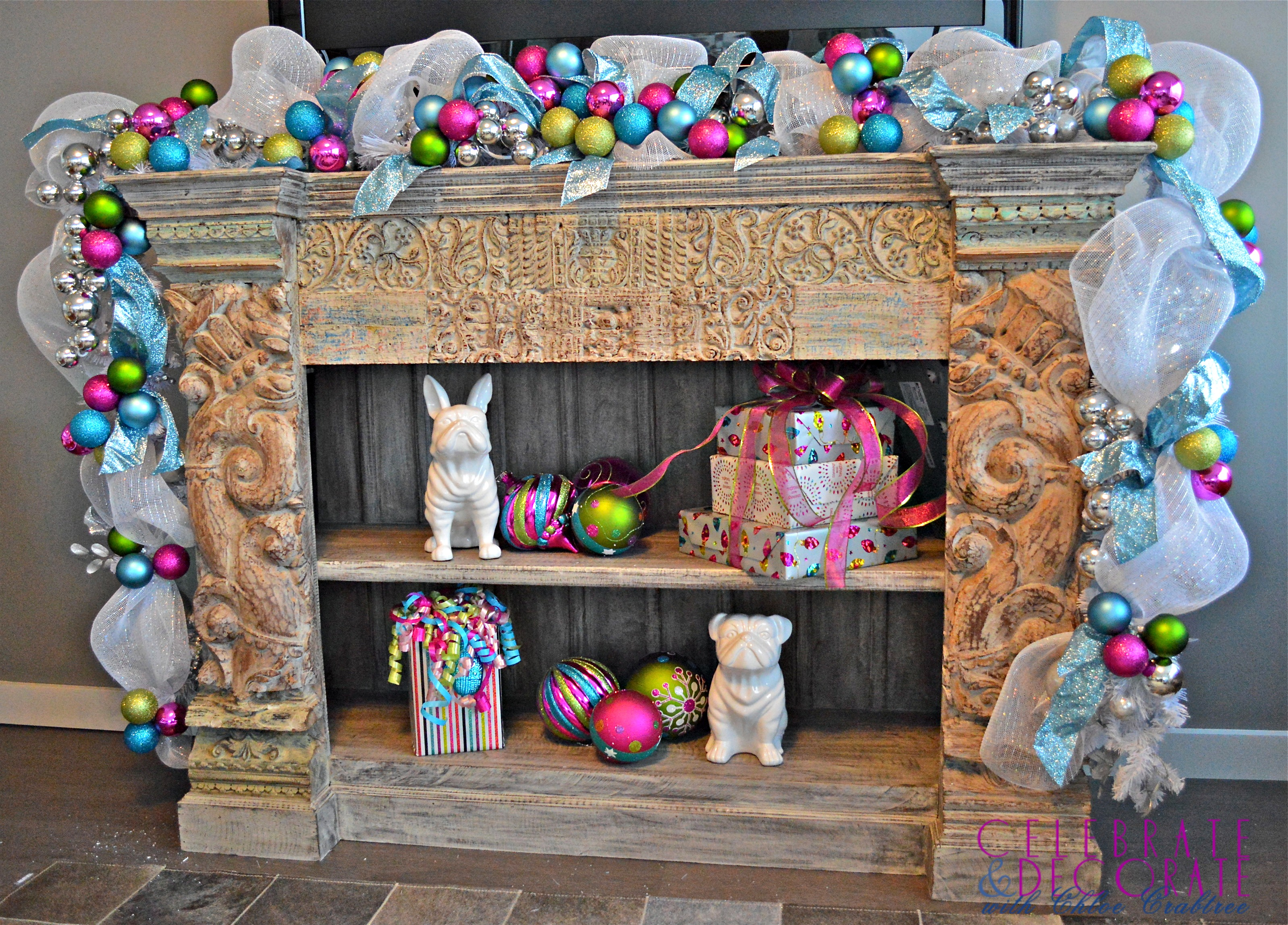 Pink And Blue And Green Christmas Decorations Celebrate Decorate
