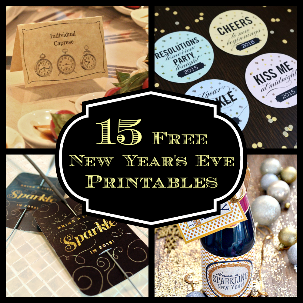 15 free new years even printables