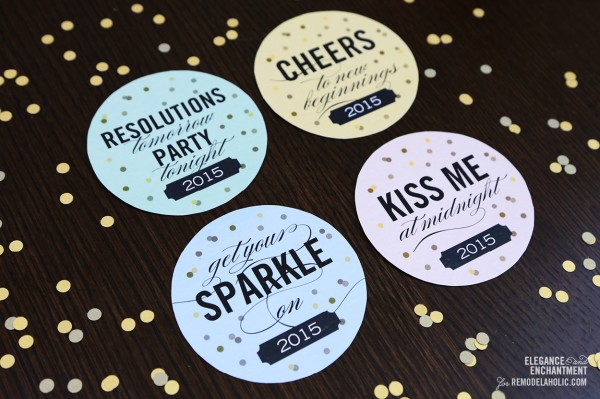 New Years Eve Drink Coasters