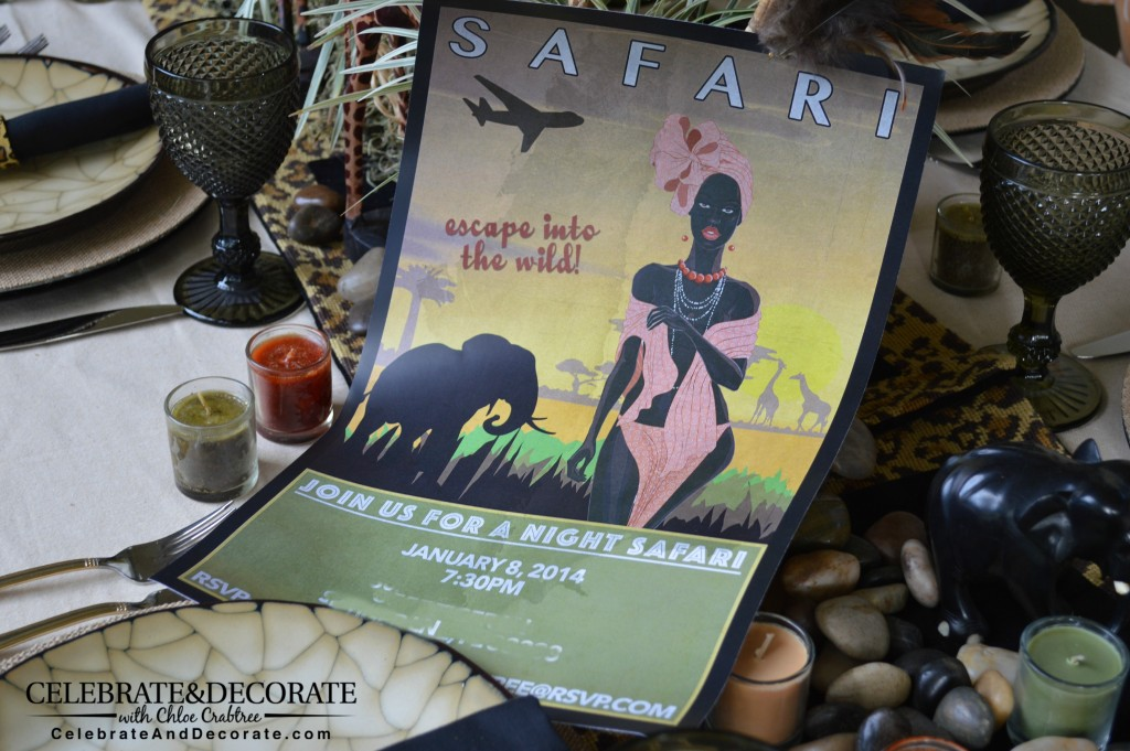 A Night Safari Party Invitation