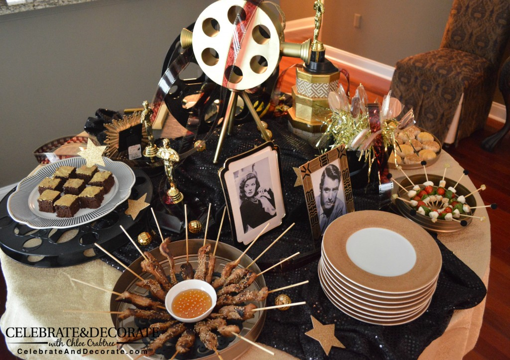 Academy Awards Party Tablescape