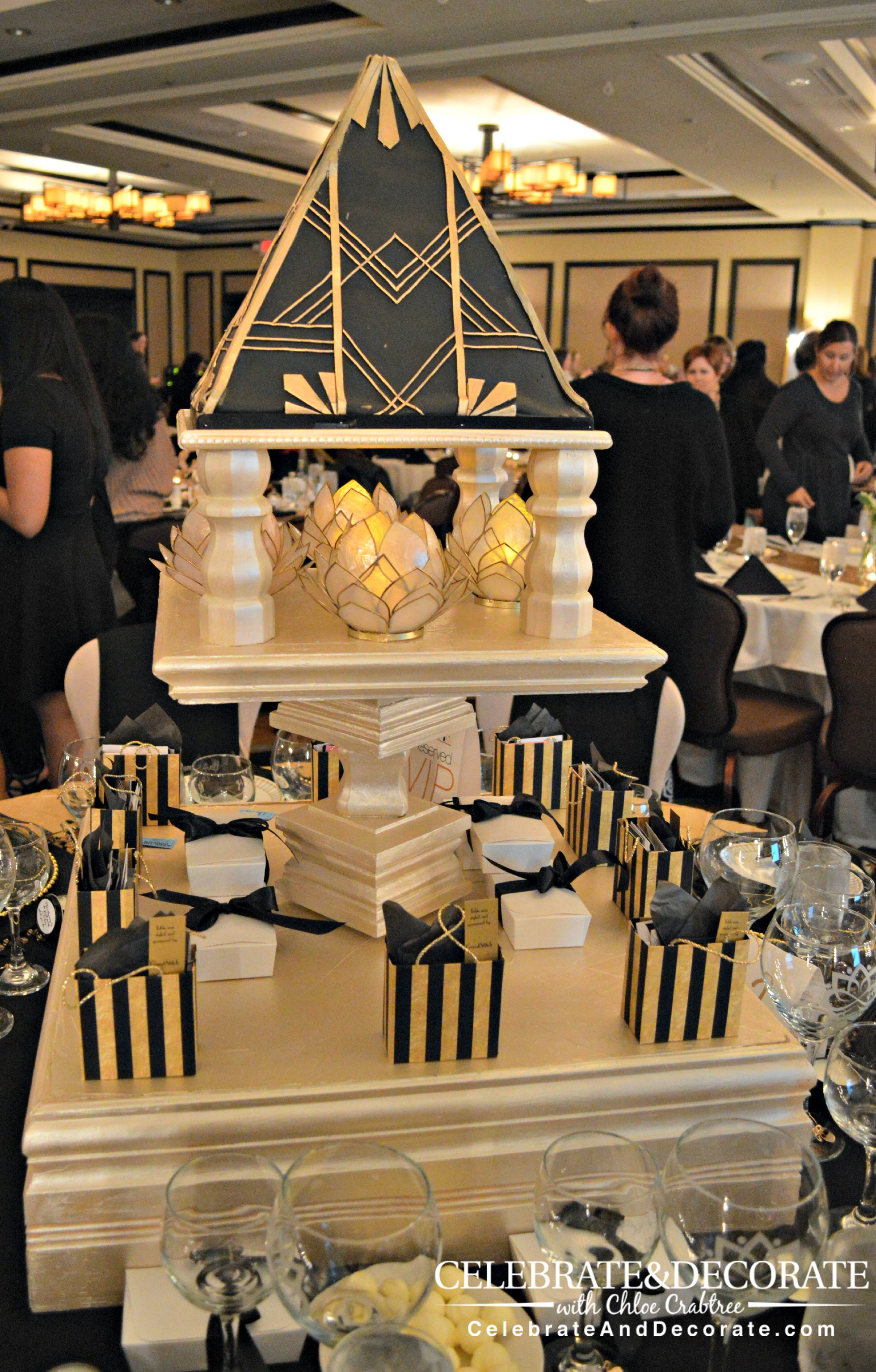 Magnificent Art Deco Hollywood Themed Centerpiece Celebrate Decorate Home Interior And Landscaping Elinuenasavecom