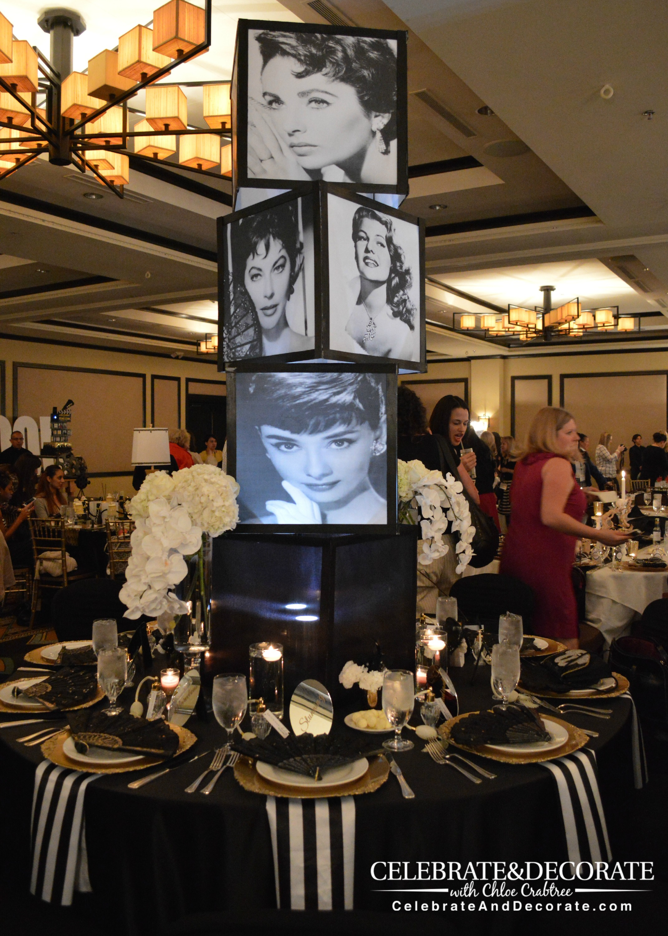 Hollywood Themed Gala | Hollywood party decorations, Old ... |Old Hollywood Themed Birthday Party