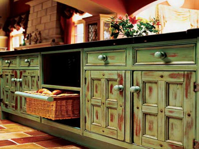 Appreciate The Artistry Of These Lovely Distressed Painted Cabinets