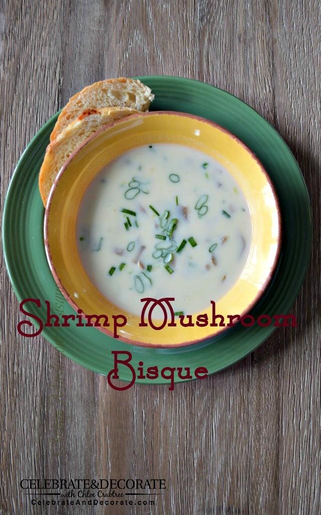 Shrimp mushroom bisque Recipe