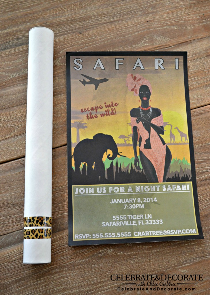 Unique Safari Party Invitation