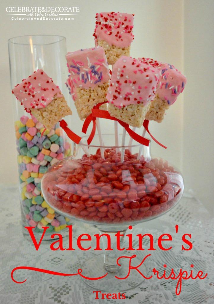 Valentineu0027s Krispie Treats