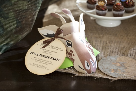 Creative Jungle Party Invitation