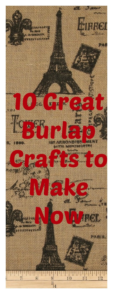10 great burlap crafts celebrate decorate for Crafts made with burlap