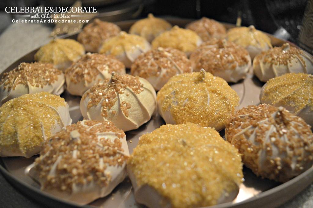 Gold-meringues