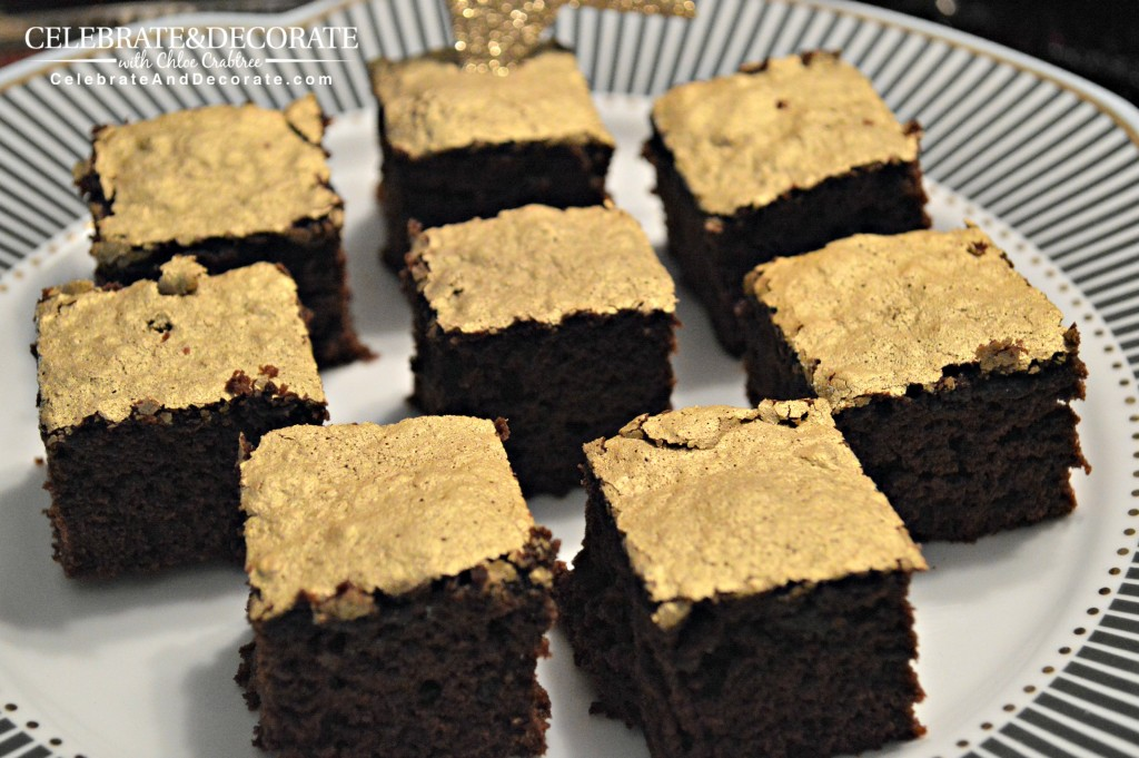 Golden-topped-brownies