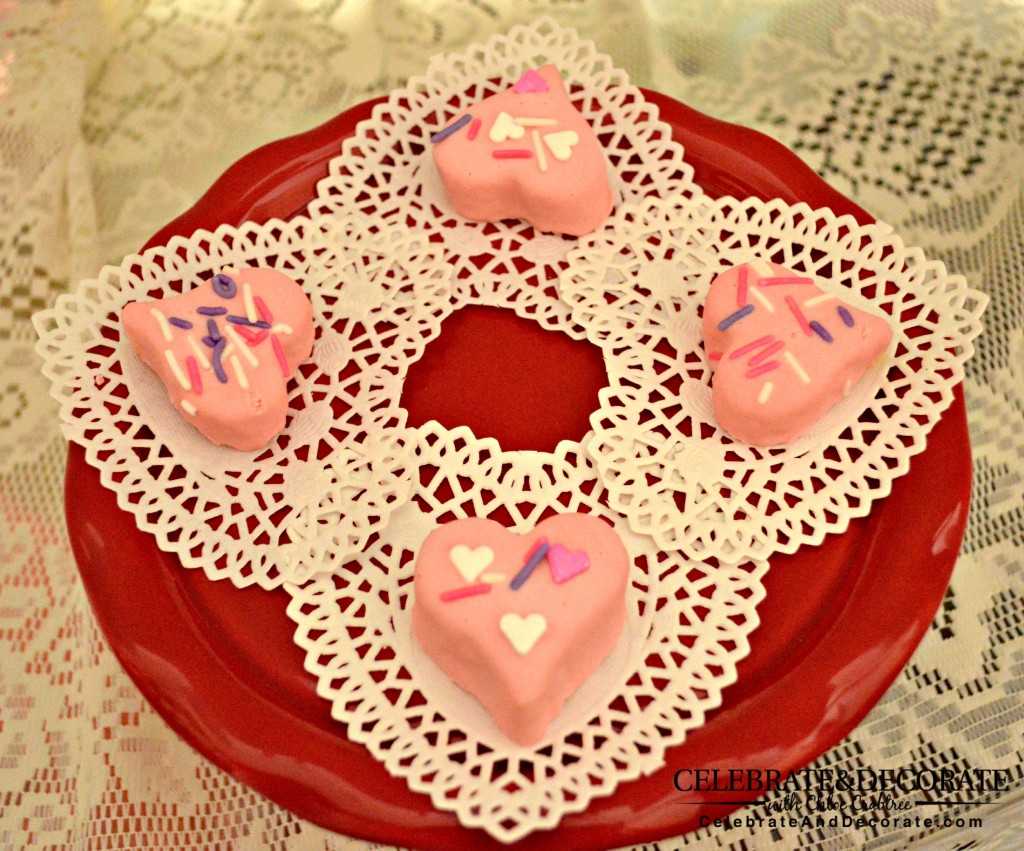 Heart-shaped-petit-fours-for-Valentine's