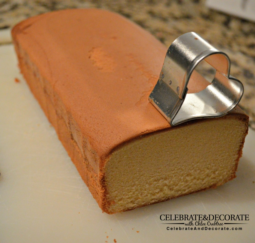 Making petit fours from pound cake