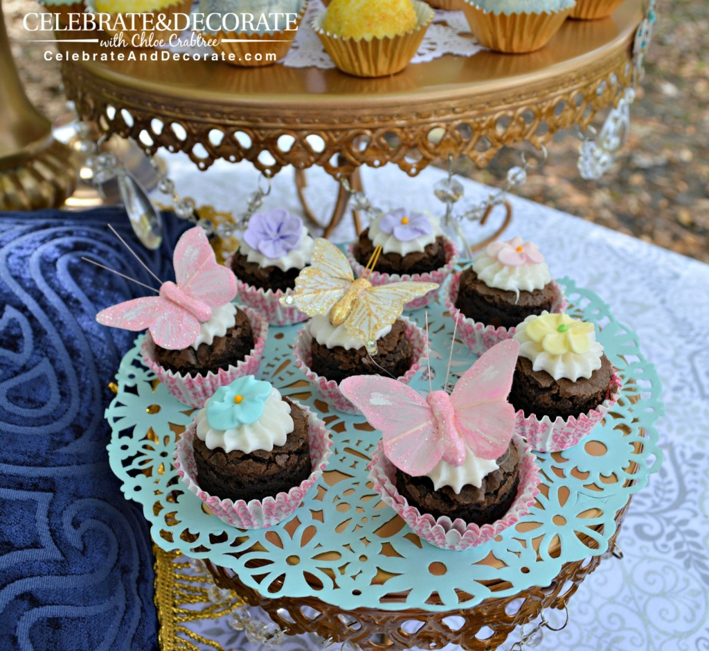 A-Cinderella-Inspired-Tea-Party-with-butterfly-brownie-bites