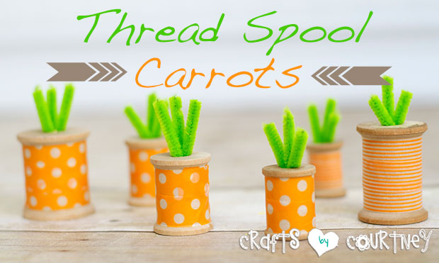 Easter-Thread-Spool-Carrots-Crafts