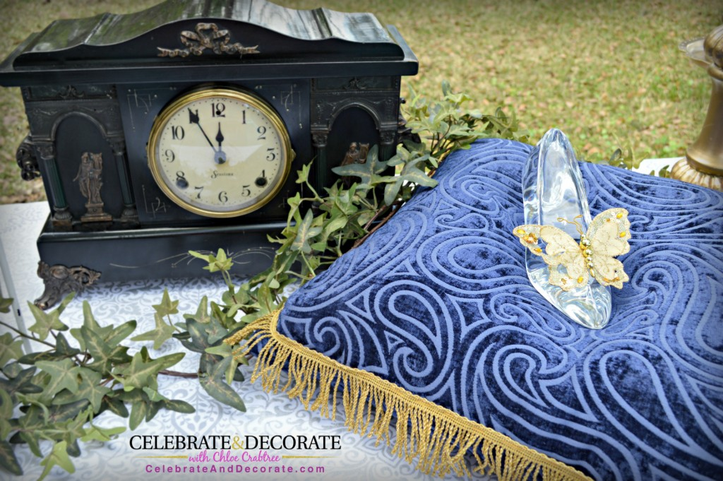 Cinderella Party Clock and Glass Slipper