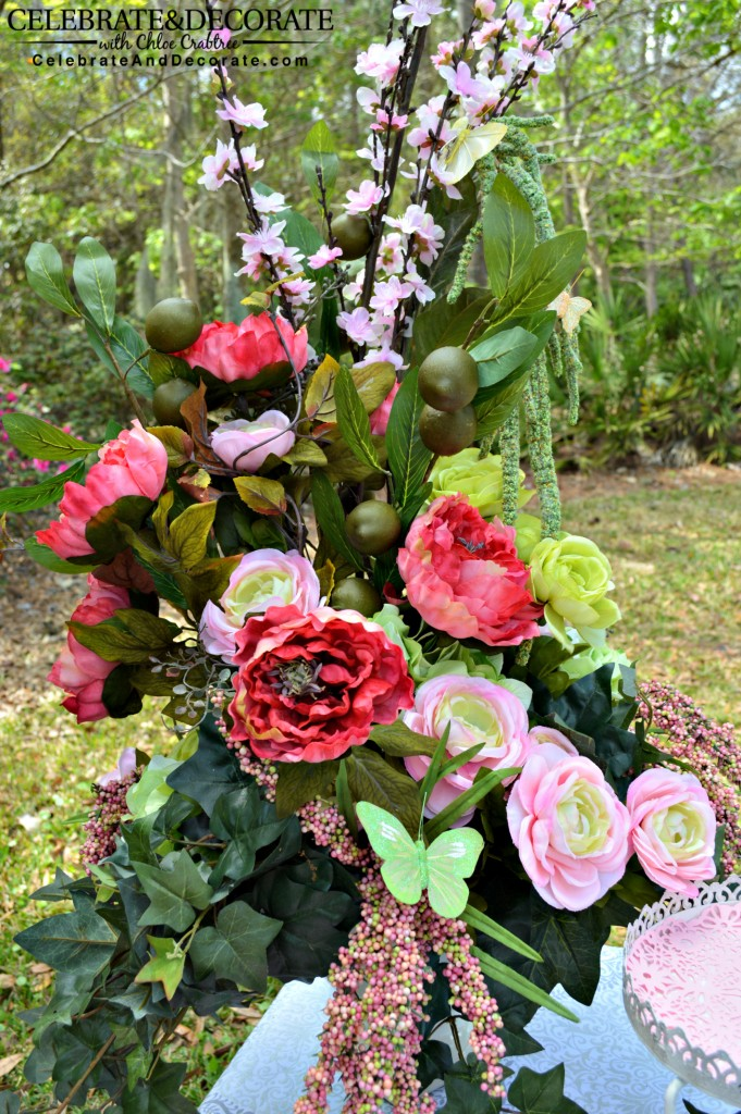 Cinderella Party Flower Arrangment