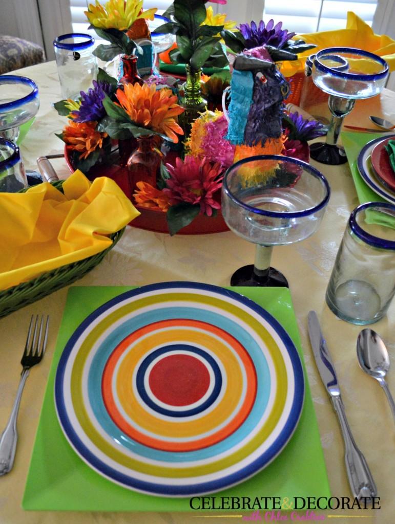 Cinco de Mayo Fiesta colored plates