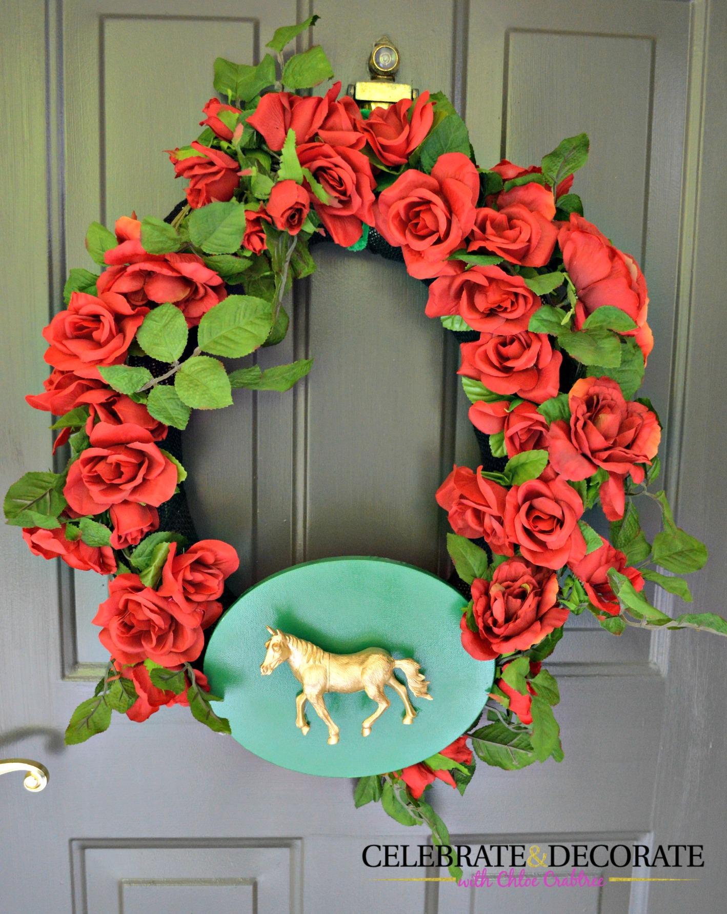 A Kentucky Derby Wreath Celebrate Decorate