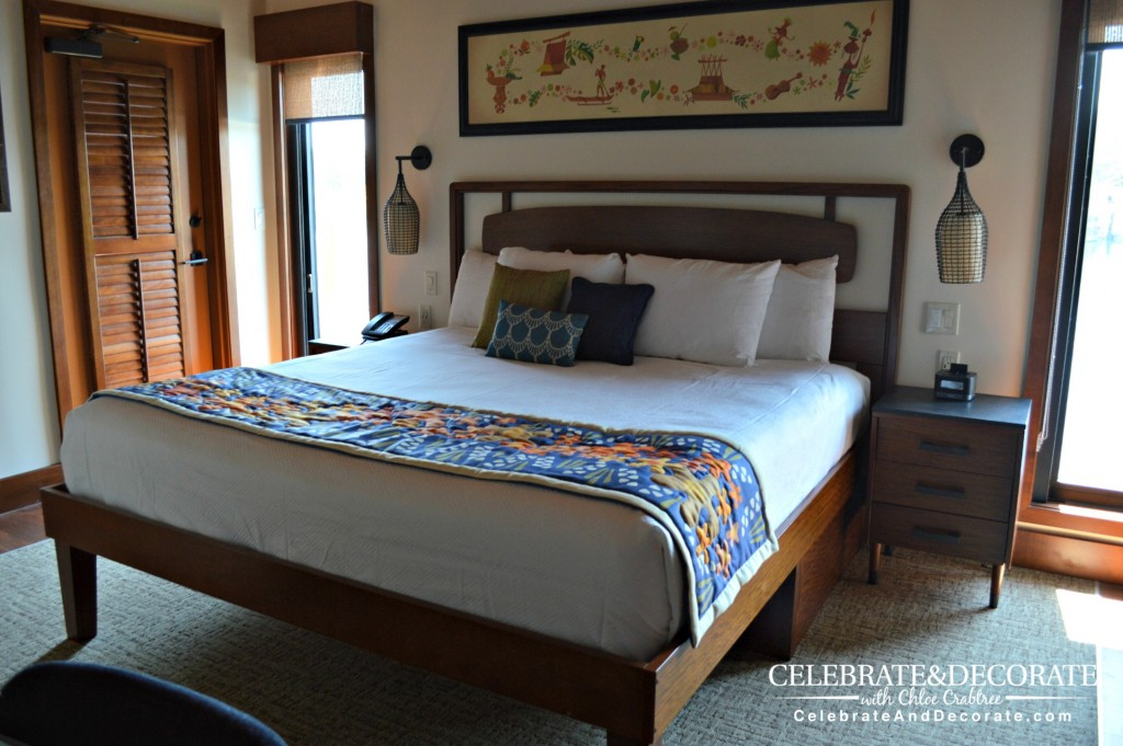 Master-bedroom-in-the-Overwater-bungalow-at-Disney's-Polynesian-Resort