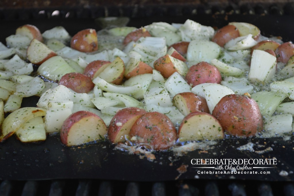 Potatoes-and-Onions-on-a-grill-mat