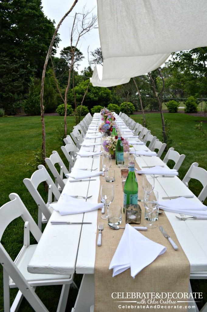 White-party-table