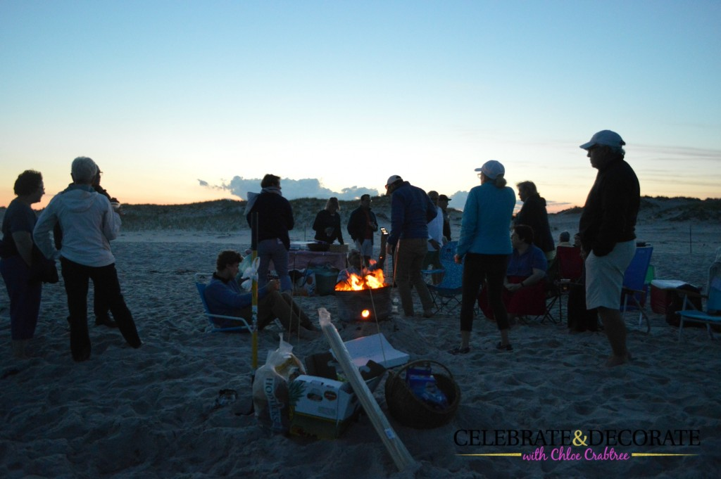 Beach-party-at-sunset