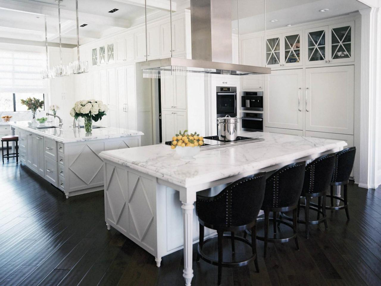 15 inspiring white kitchens celebrate decorate for Kitchen setting pictures