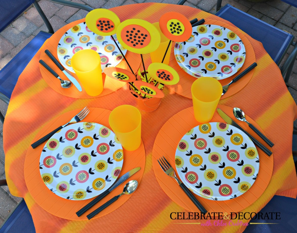 Papaya-Inspired-Tablescape