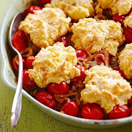 Cheddar-Tomato Cobbler