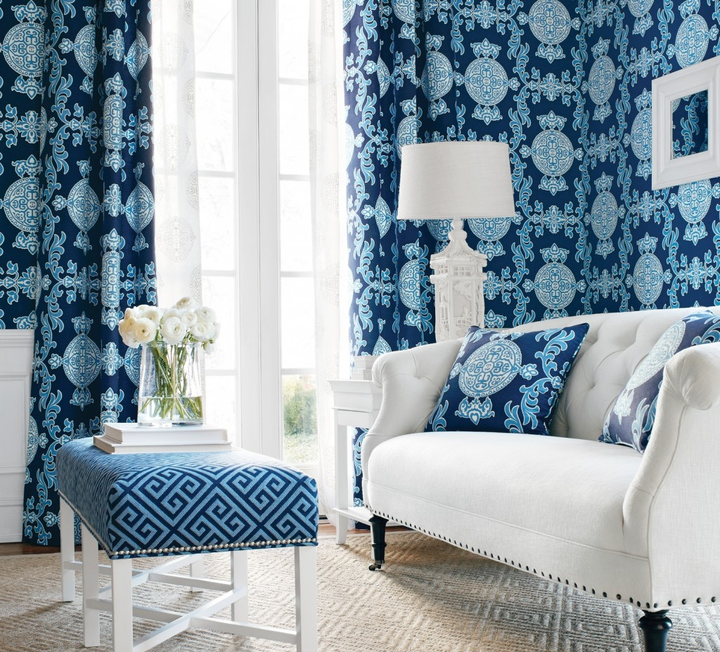 Hildreth's blue and white room