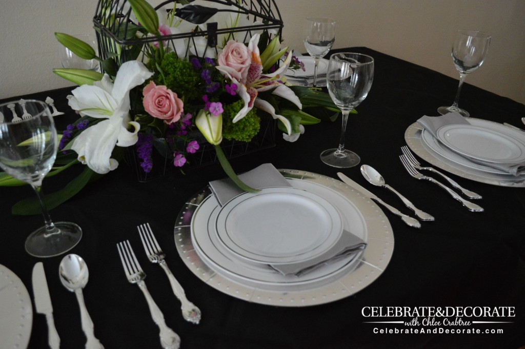 Silver Dream Tablescape