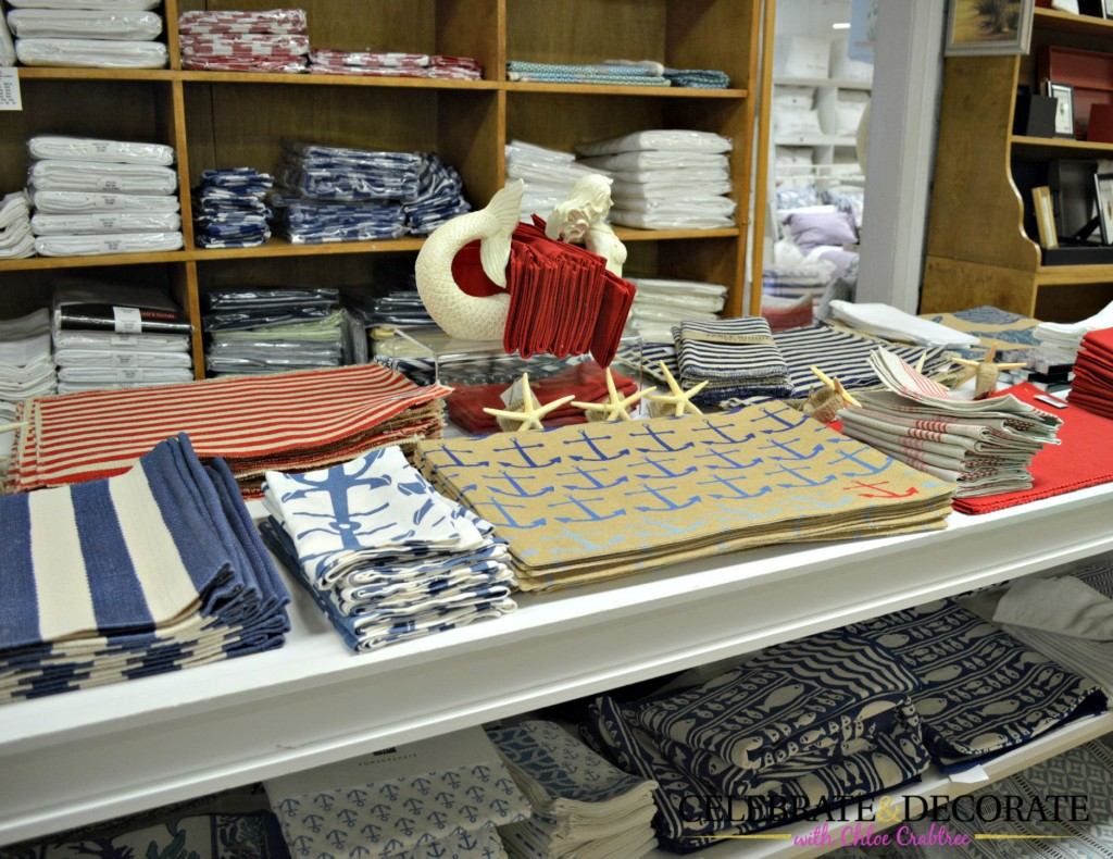 Tabletop linens at Hildreth's