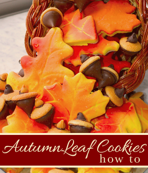 Autumn Leaf Cookies - How To