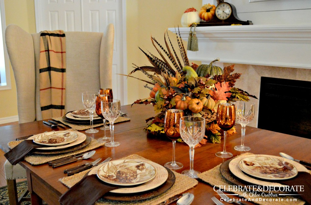 A Fall Tablescape Inspired by Pheasant Dishes