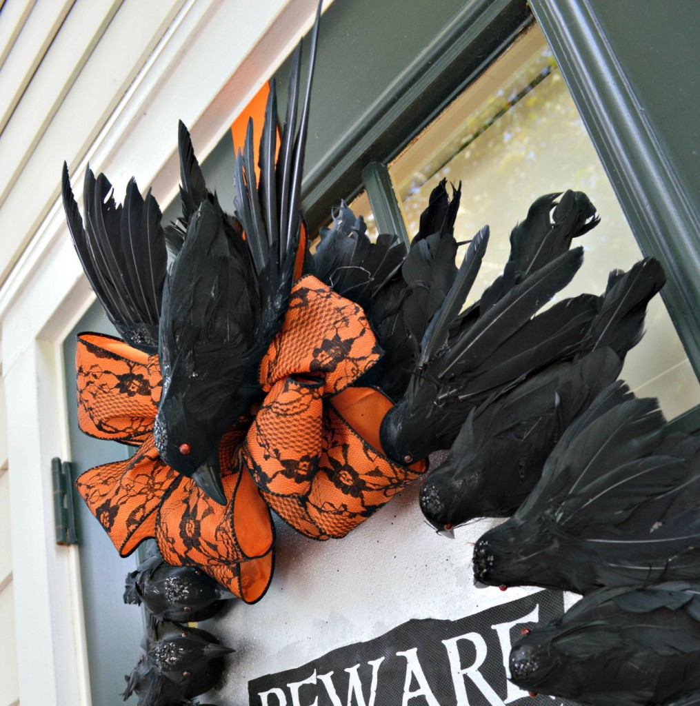 Creepy Crow Halloween Wreath 2
