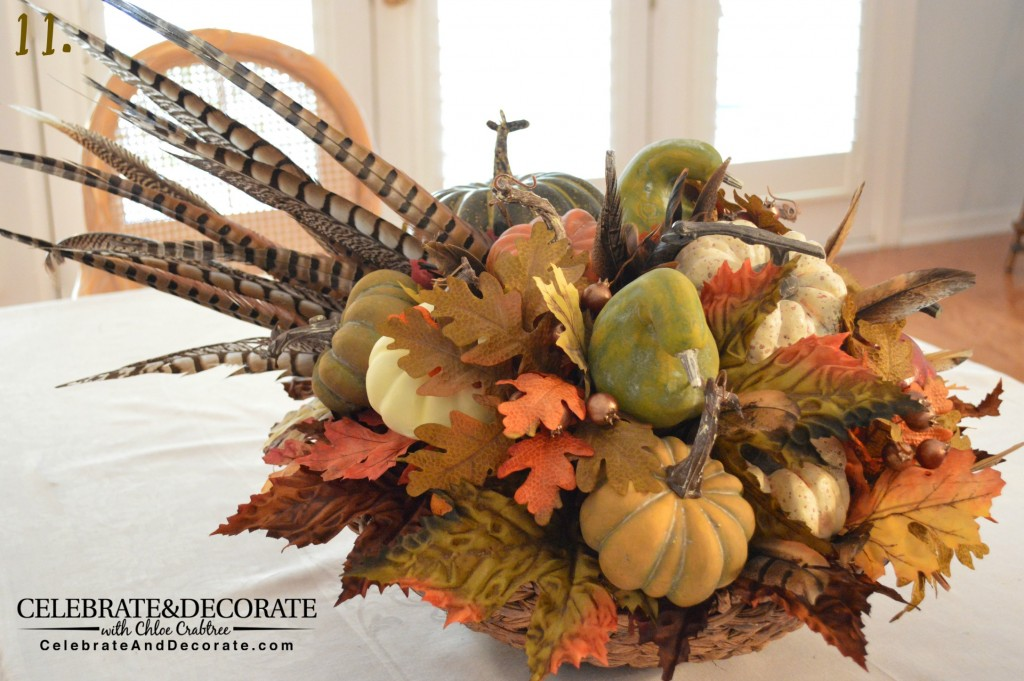 Adding Pheasant Feathers to your Fall arrangements