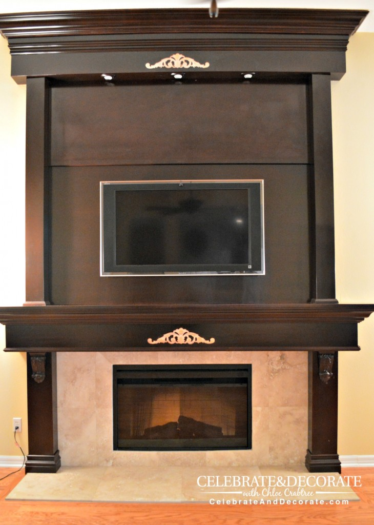 Fireplace with trim removed
