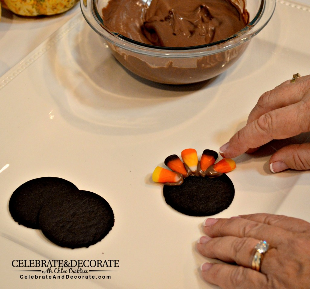 Making Turkey Tails with Candy Corn