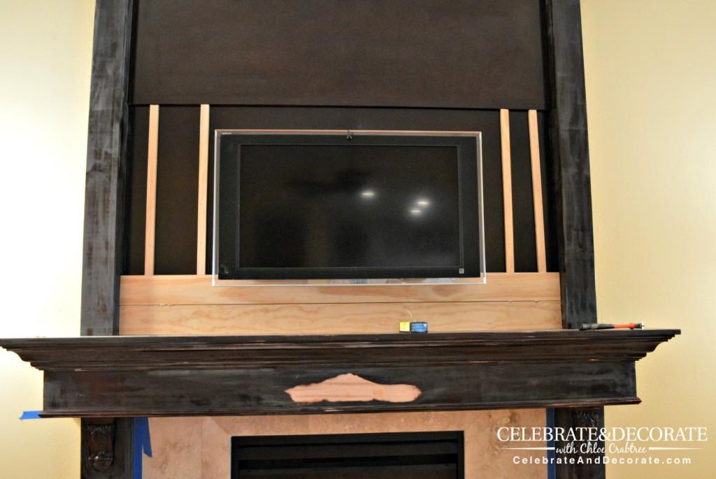 Shiplap renovation of a fireplace