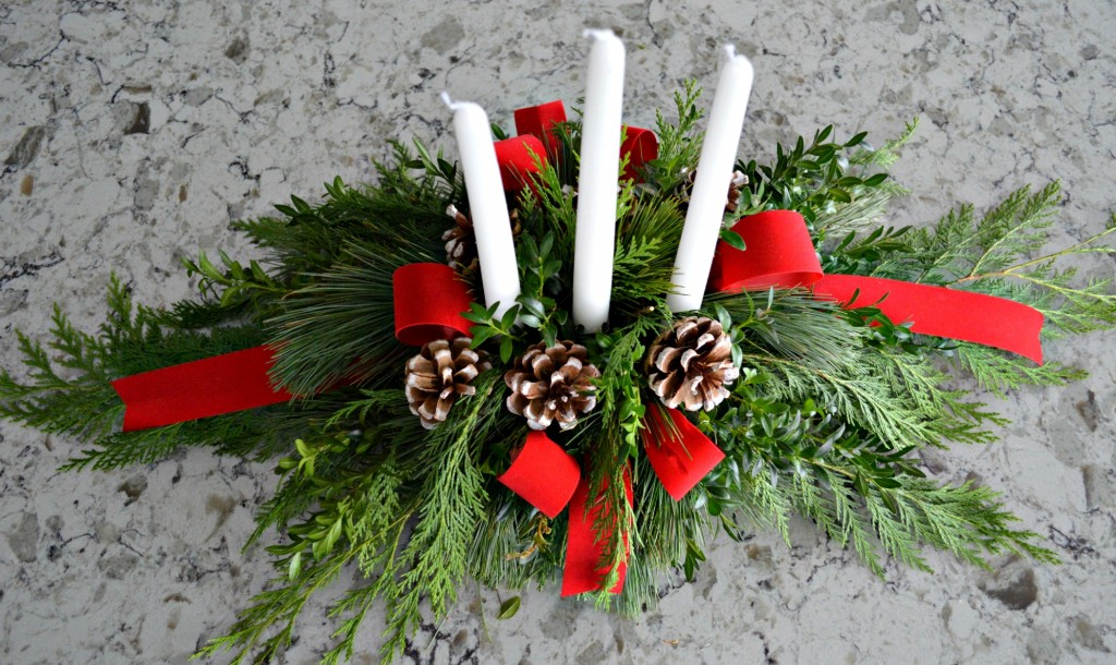A DIY Evergreen Christmas Arrangement