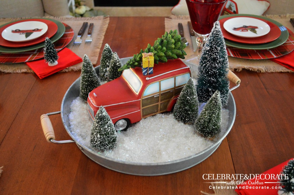 A Happy Holiday scene turns into a centerpiece