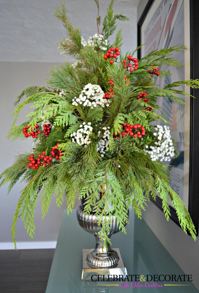 An evergreen arrangement for Christmas