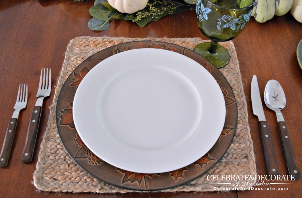 Beginning a tablescape